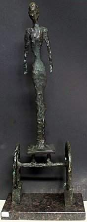 Patina Bronze Sculpture on a Marble Base (410)
