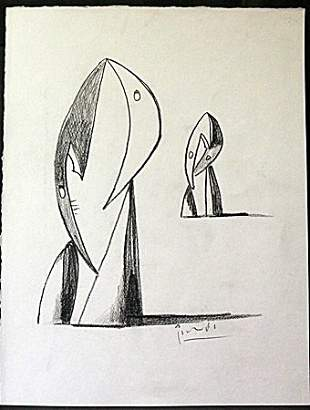 Original Pencil Drawing By Pablo Picasso