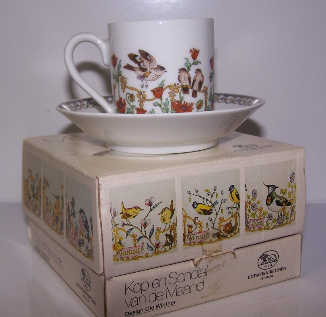 Hutschenreuther Germany  Demitass Cup and Saucer
