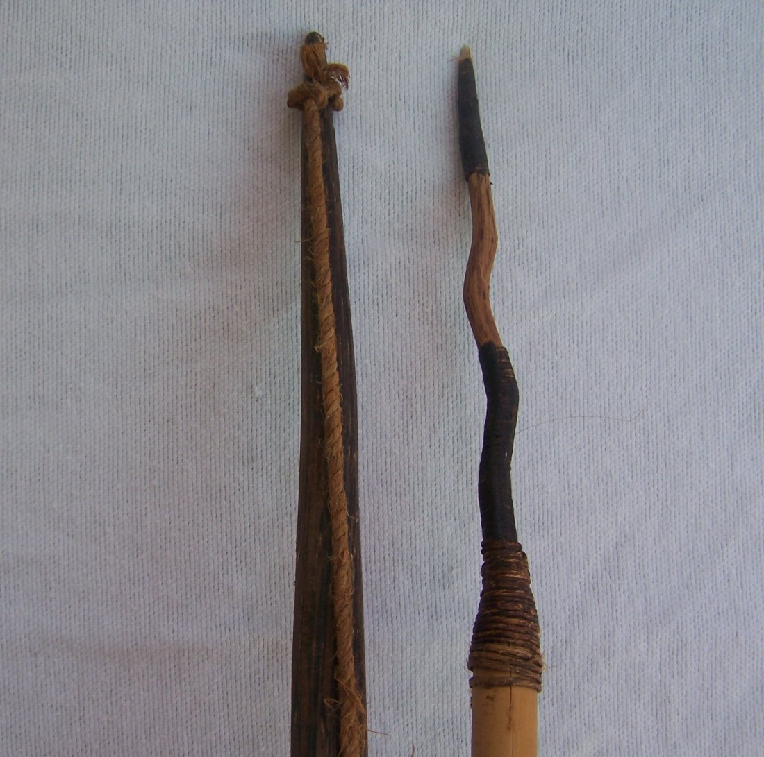 Vintage Authentic South American Indian Bow and Arrow - 2