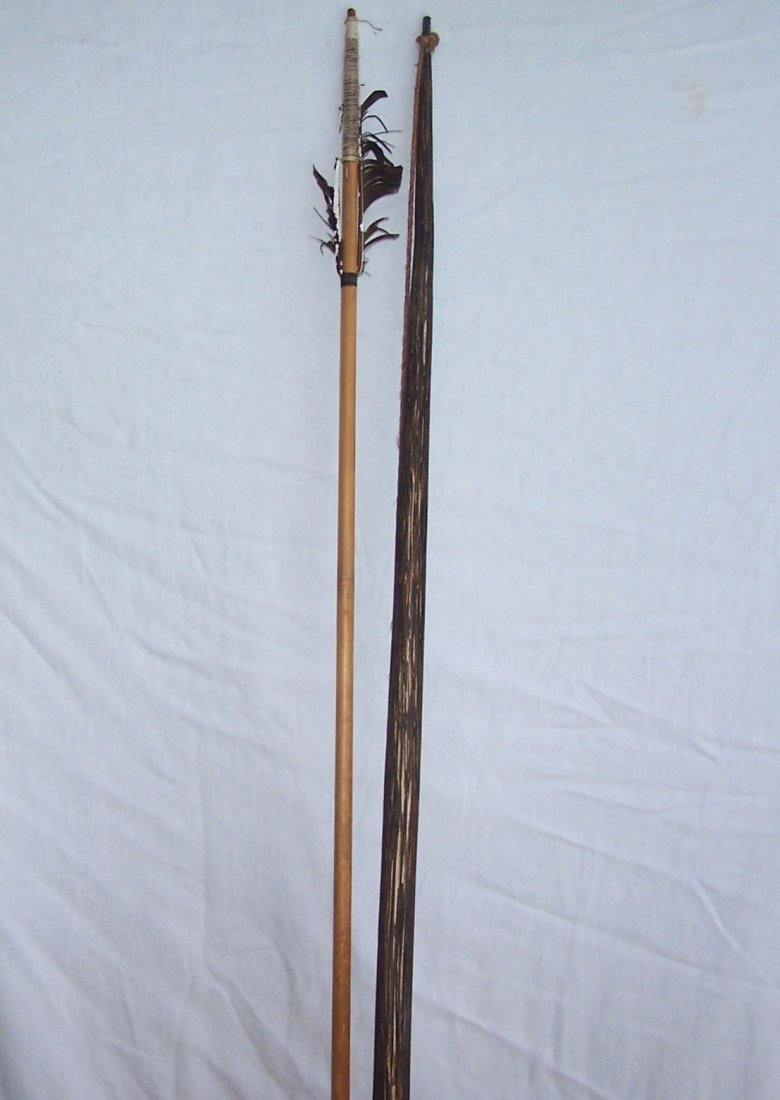 Vintage Authentic South American Indian Bow and Arrow - 4