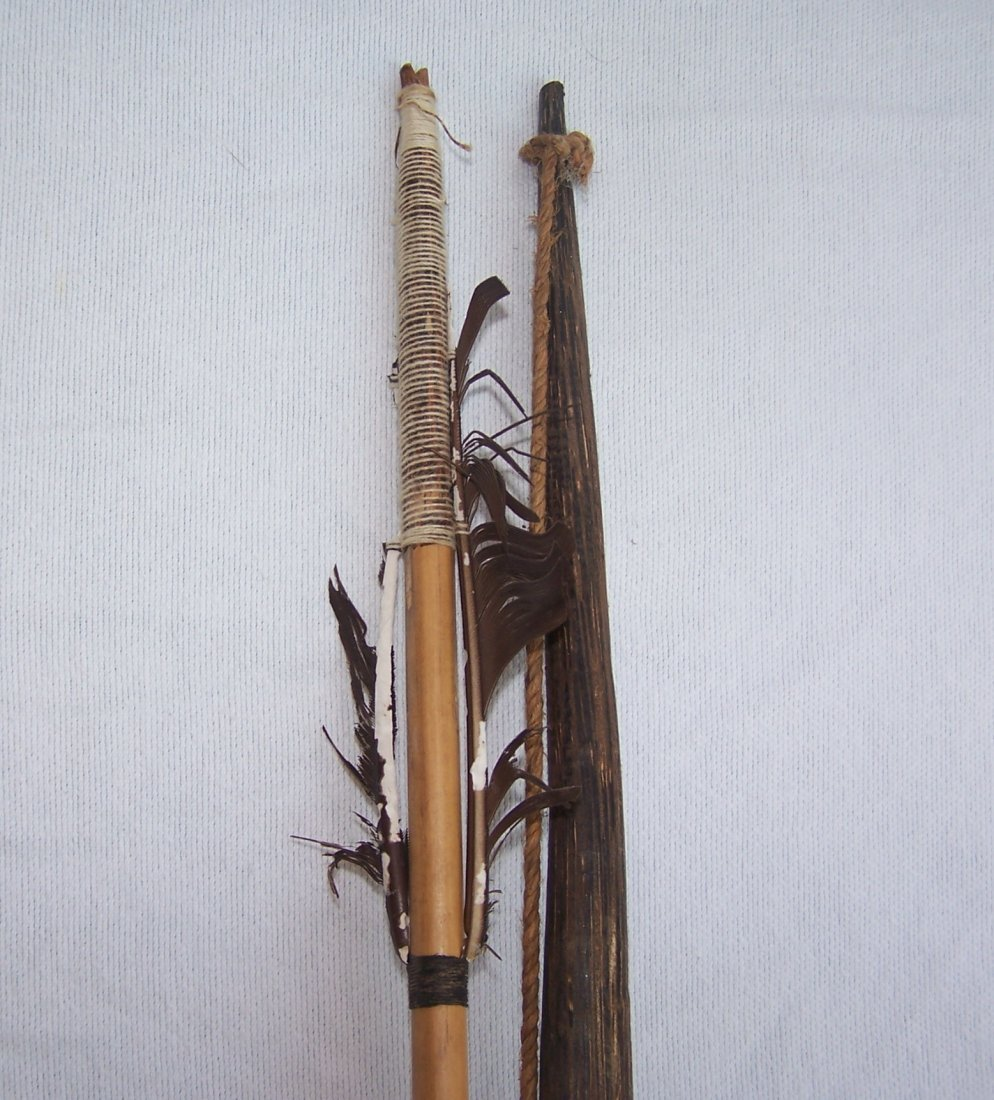 Vintage Authentic South American Indian Bow and Arrow - 5