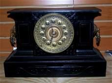 Antique Ansonia Cast Iron Mantle Clock