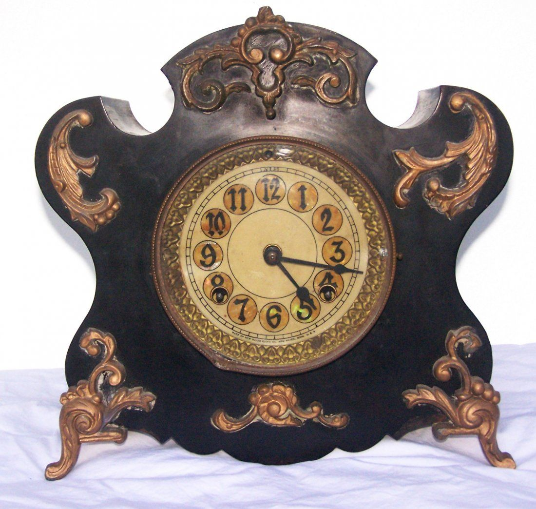 Antique New Haven Clock Company Metal or Cast Iron