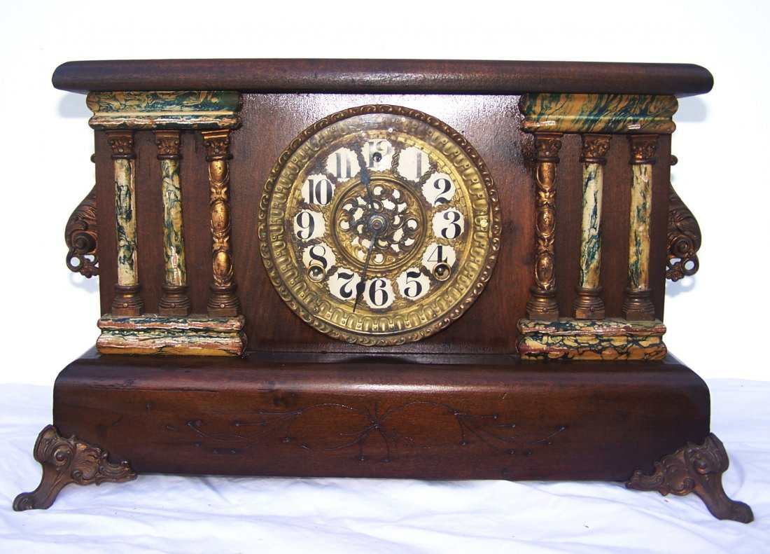 Antique Adamantine Mantle Clock