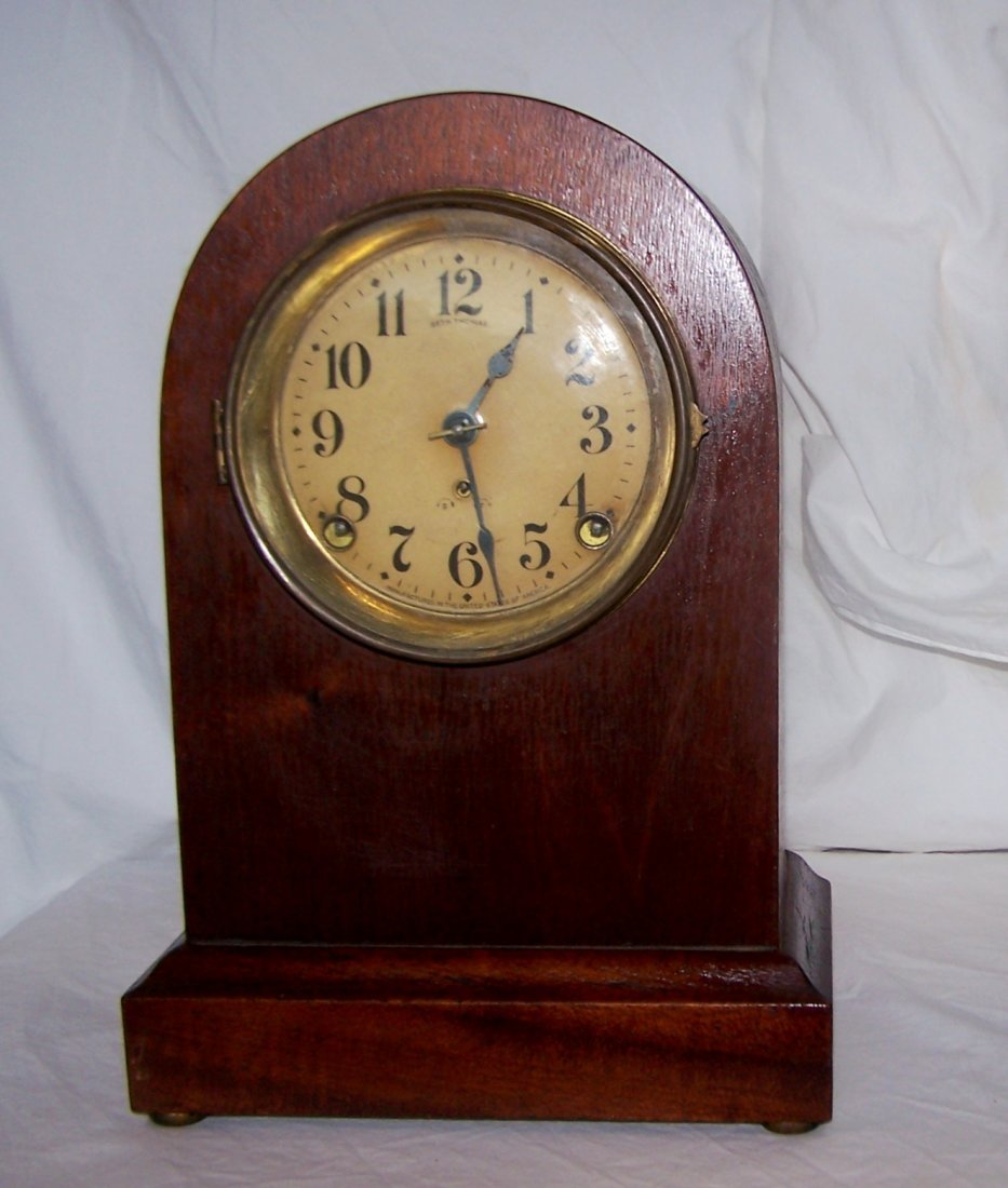 Antique Seth Thomas Double Chime Beehive Mantle Clock