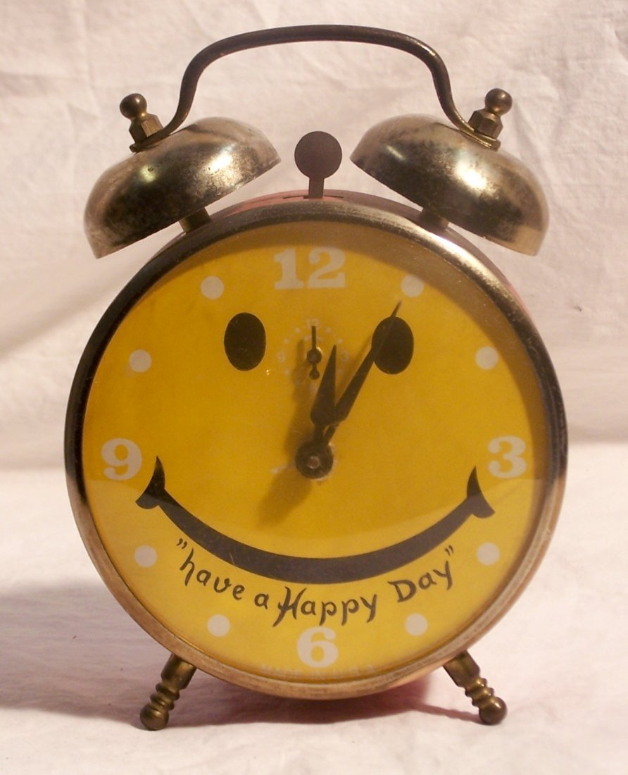 Vintage Lux Have a Nice Day Alarm Clock