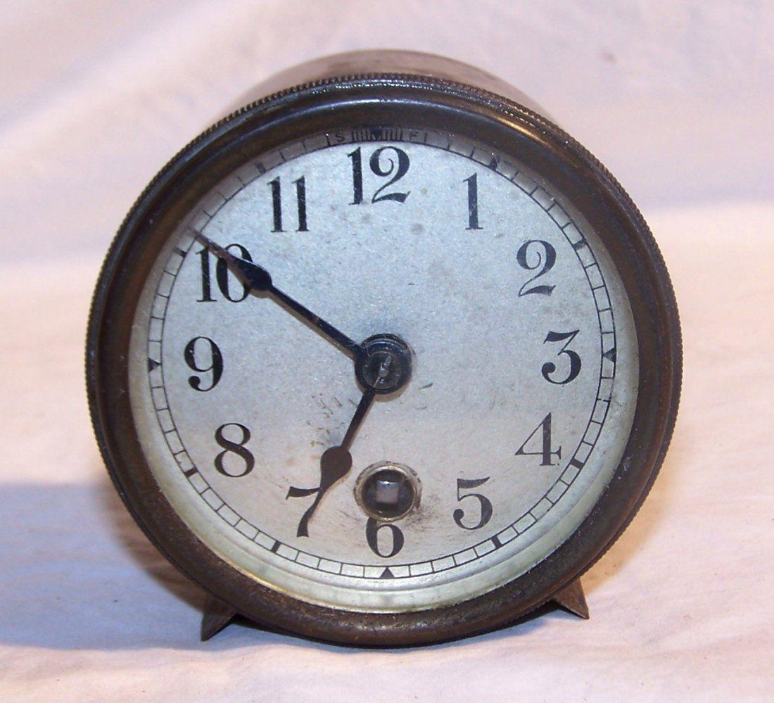 Antique Boston Clock Company USA Brass Desk Clock