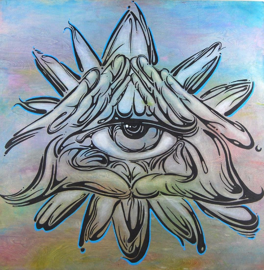 Calen Blake All Seeing Eye Urban Art Painting Surreal