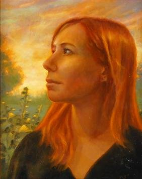 """Signed """"Red Haired Girl Portrait"""" Painting"""