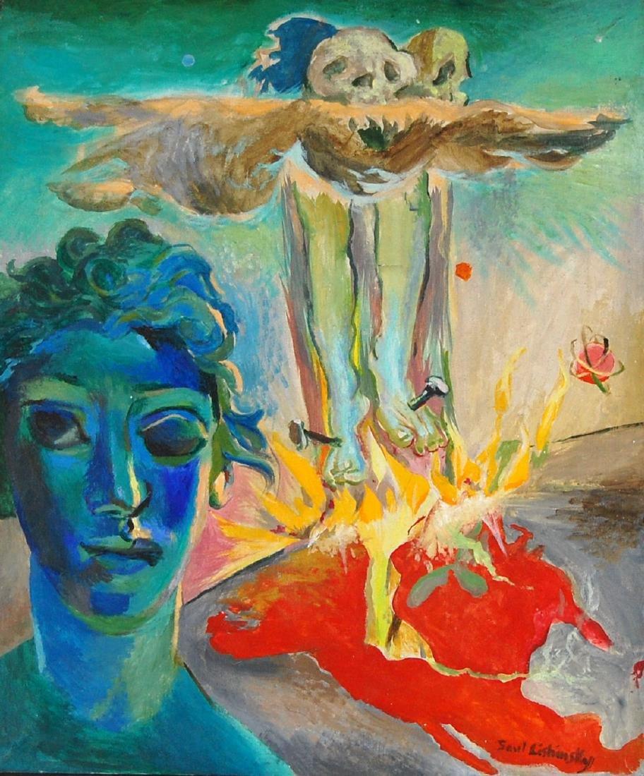 Saul Lishinsky Earth's Destruction Surreal Acrylic
