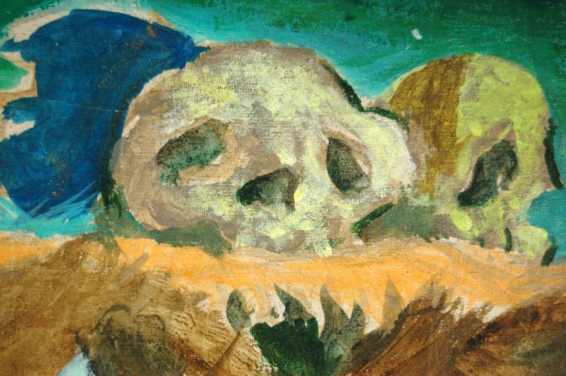 Saul Lishinsky Earth's Destruction Surreal Acrylic - 4