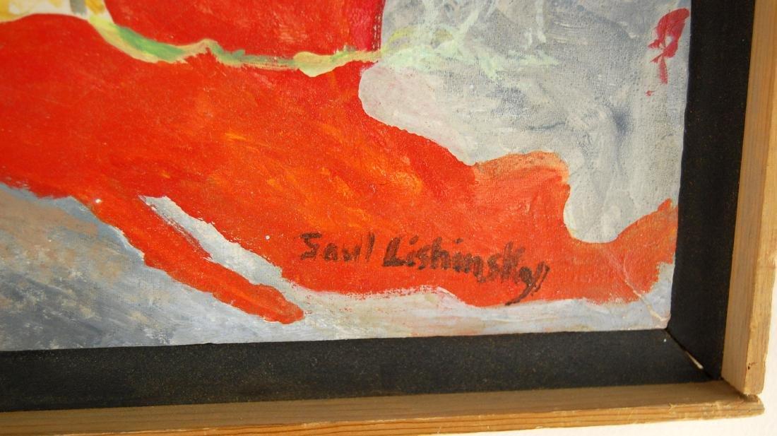 Saul Lishinsky Earth's Destruction Surreal Acrylic - 5