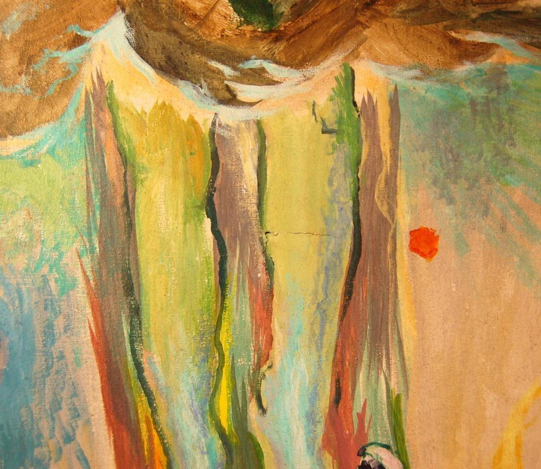 Saul Lishinsky Earth's Destruction Surreal Acrylic - 7