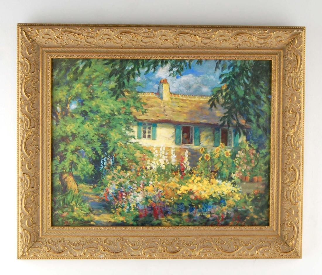 Impressionist Canvas Print Summer Cottage Home