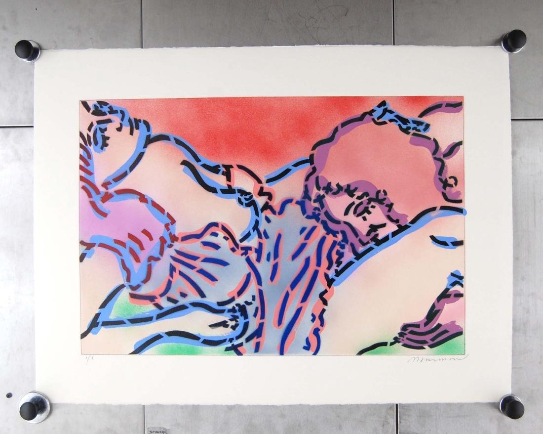 """Paul Harmon """"Amoures 25"""" Erotic Art Painting LTD ED 1/1"""