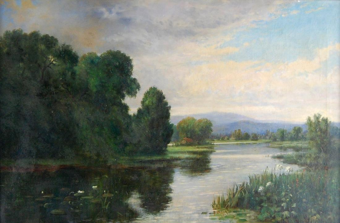 Quiet River Contemporary Landscape Oil Painting