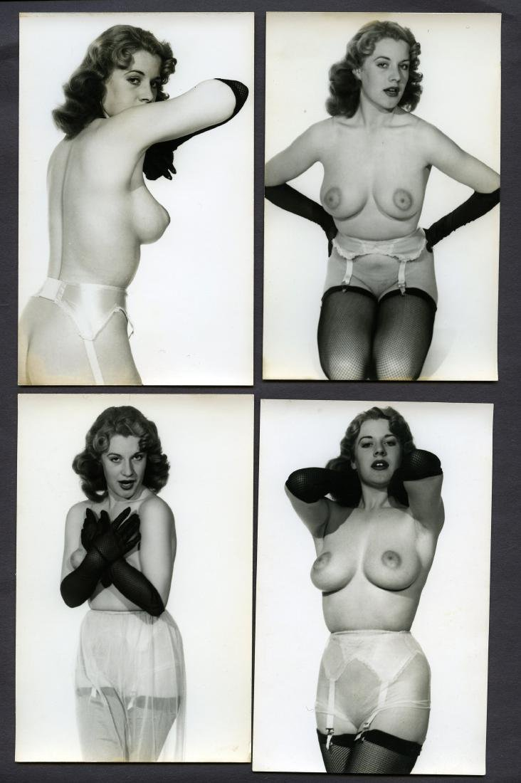 4 Nude Girl with Gloves Pin Up by Harrison Marks Photos