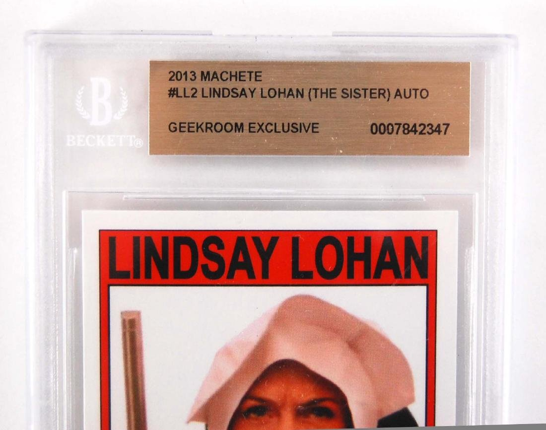Lindsay Lohan Signed April Booth Machete Movie Card - 2