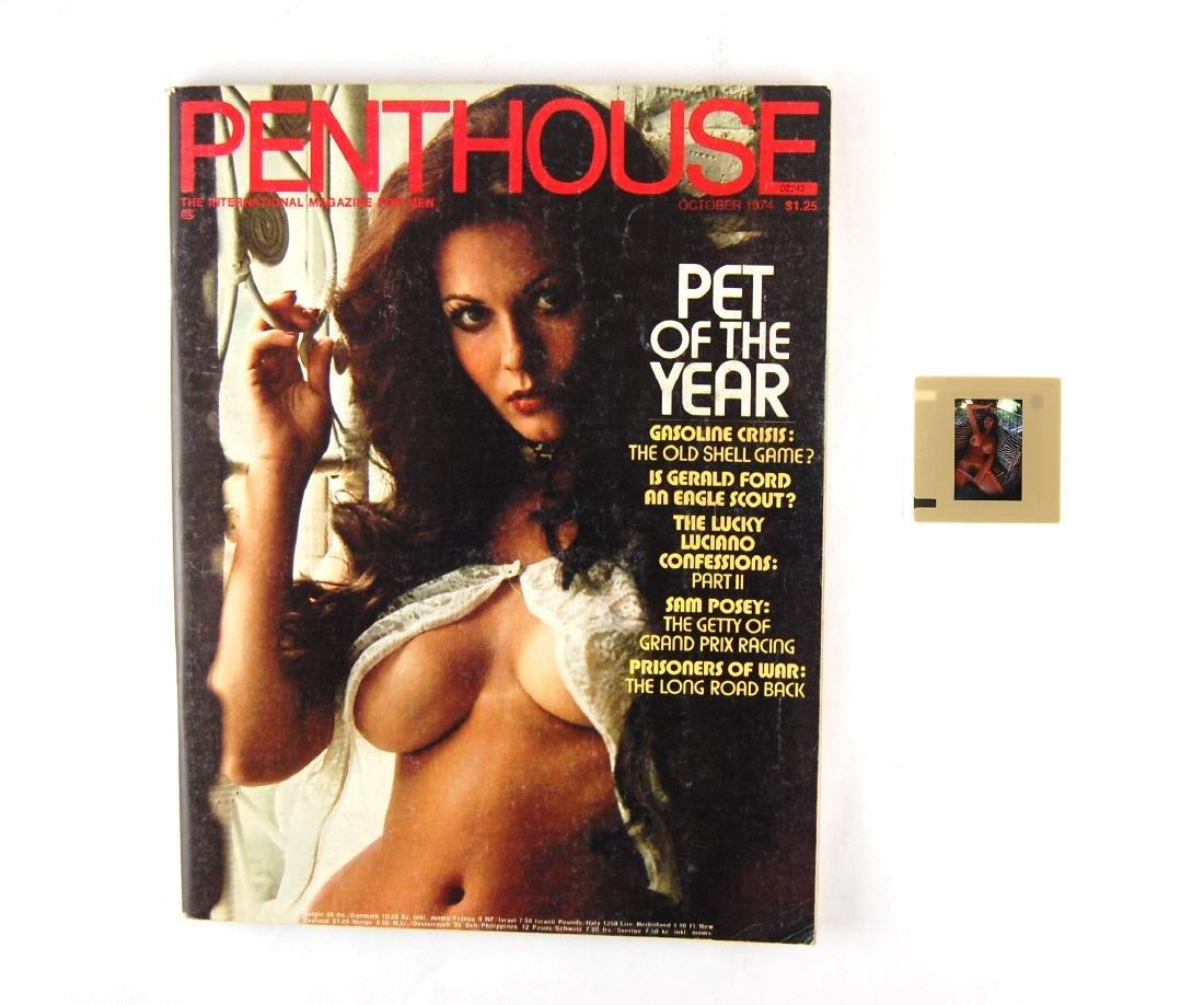 Orig Nude 35mm Slide Avril Lund & 1974 Penthouse