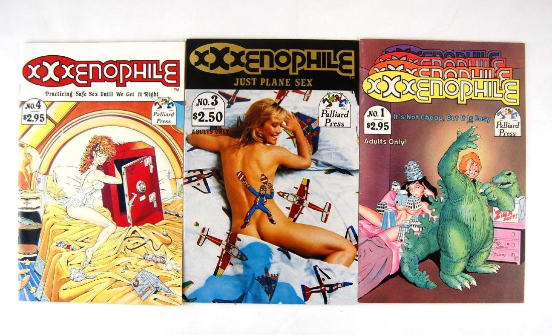 3 XXXenophile Science Fiction Nude Adult Erotic Comics