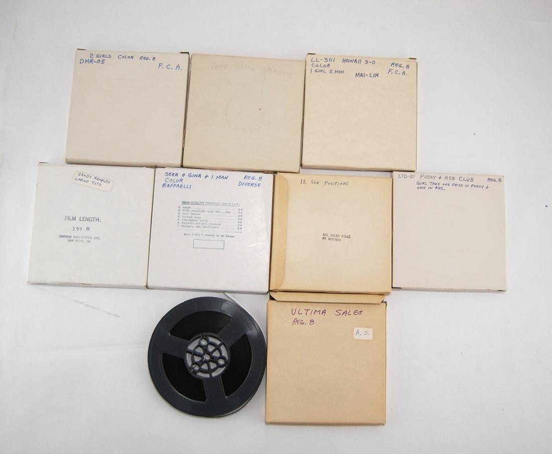 8 Vintage 1960s-1970s Nude Erotic Adult 8mm Films A