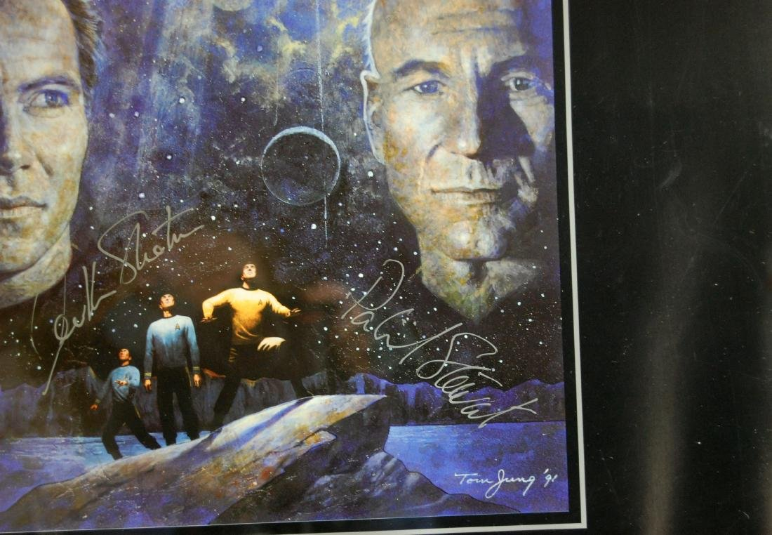 Star Trek Signed William Shatner & Patrick Stewart - 3