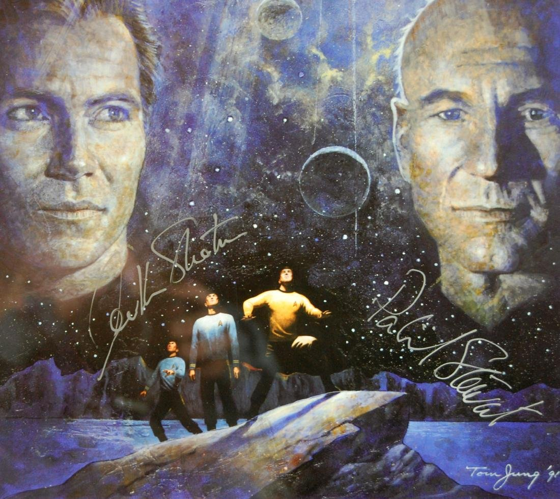 Star Trek Signed William Shatner & Patrick Stewart - 4