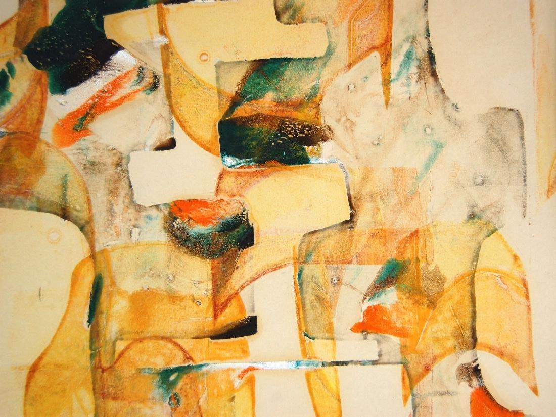Sylvia Chait Abstract Yellow & Green Mixed Media - 2