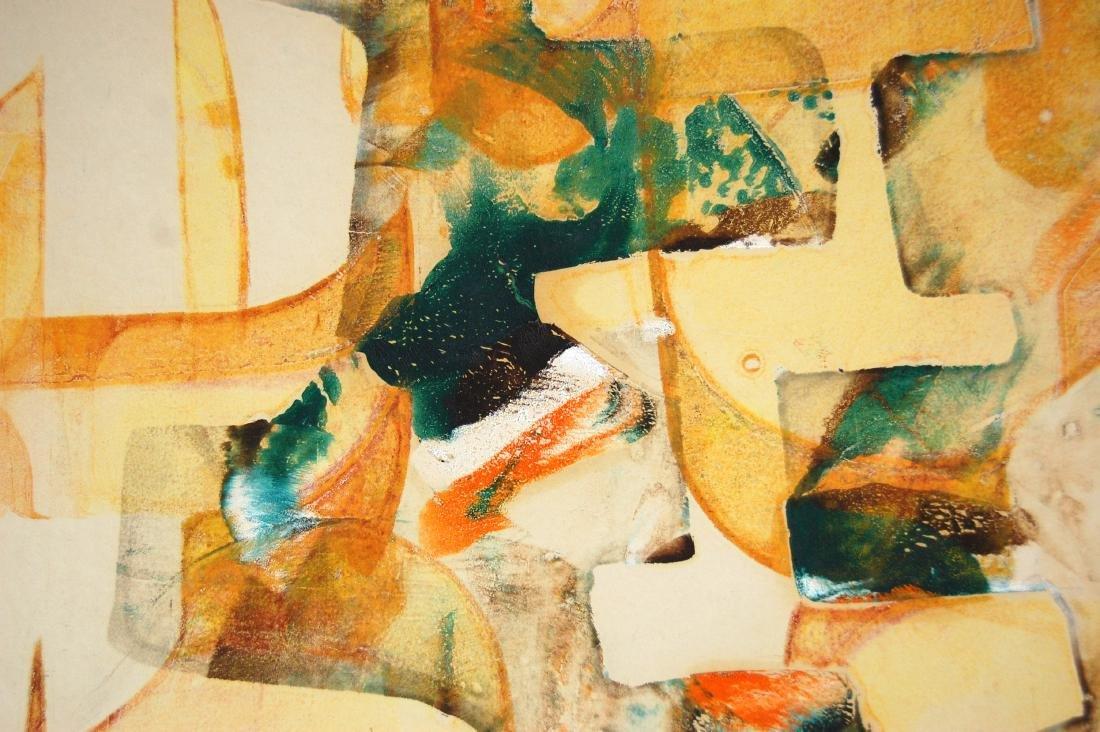 Sylvia Chait Abstract Yellow & Green Mixed Media - 3