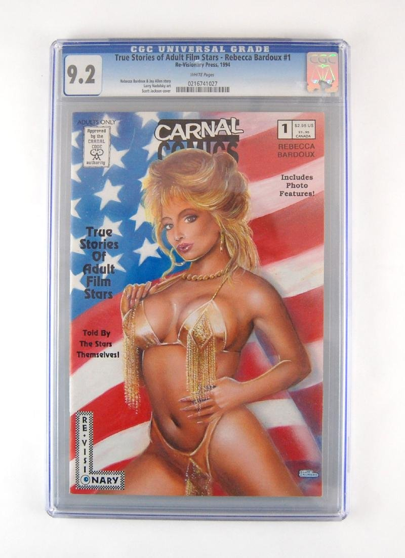 3 CGC Graded Carnal Adult Film Stars Stories Erotic - 3