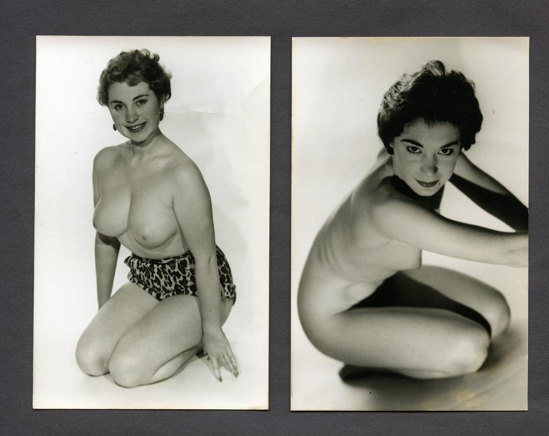 2 1950s 1960s Nude Short Hair Pin up Harrison Marks