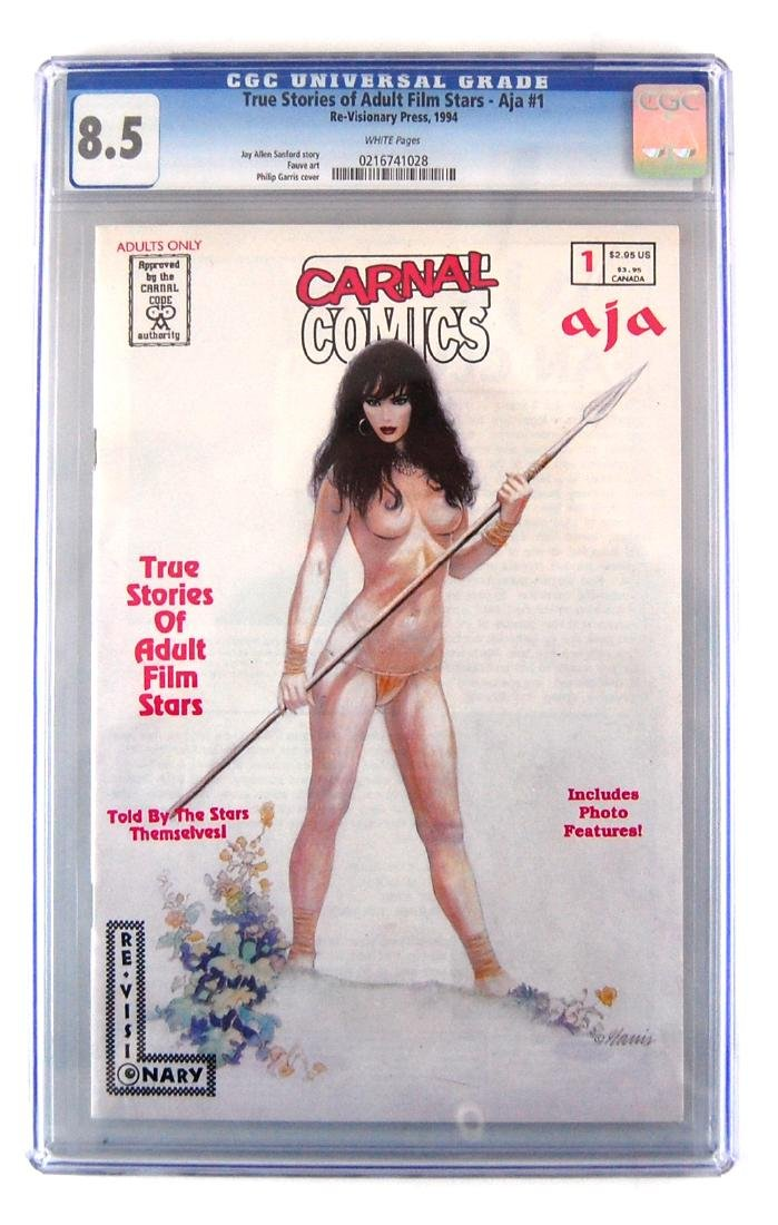 3 CGC Graded Carnal Adult Film Stars Stories Erotic - 4