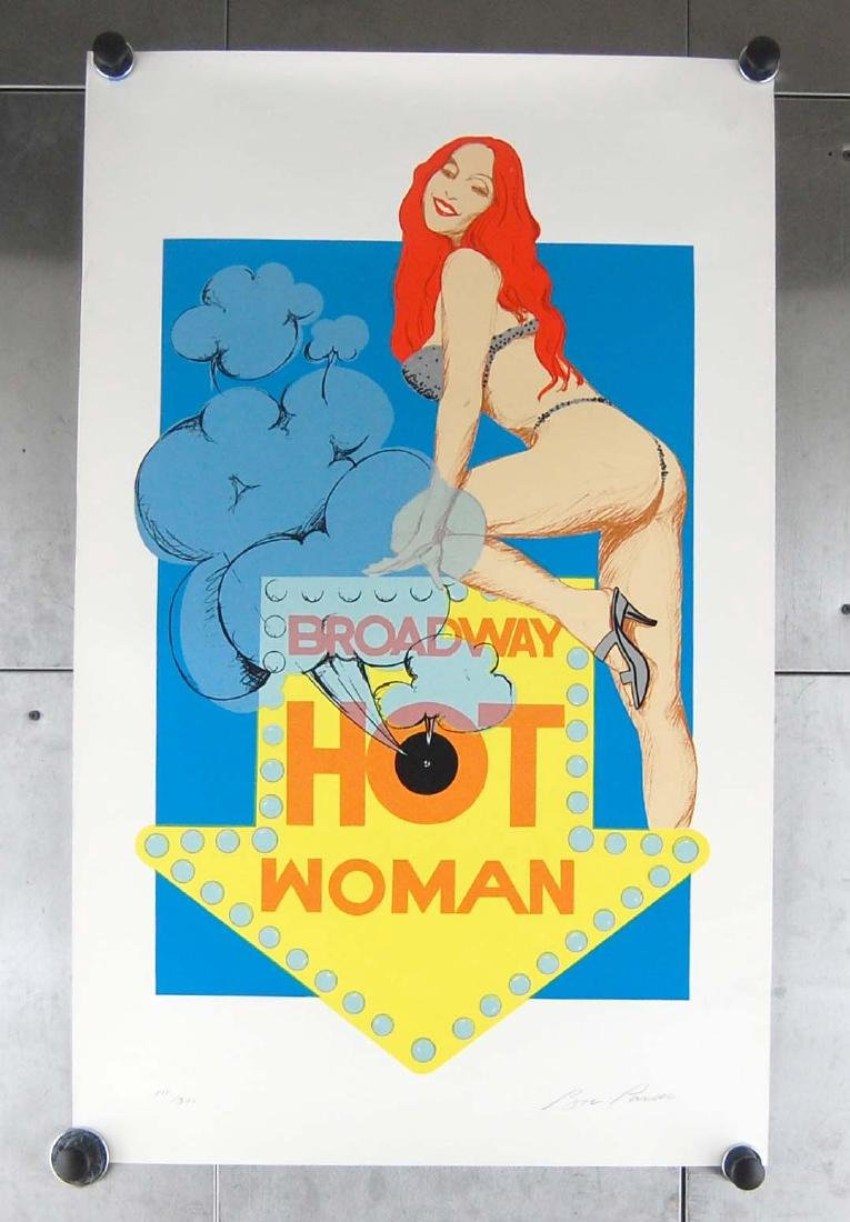 "Bob Pardo Erotic ""Hot Woman"" LTD ED 111/300 Serigraph"