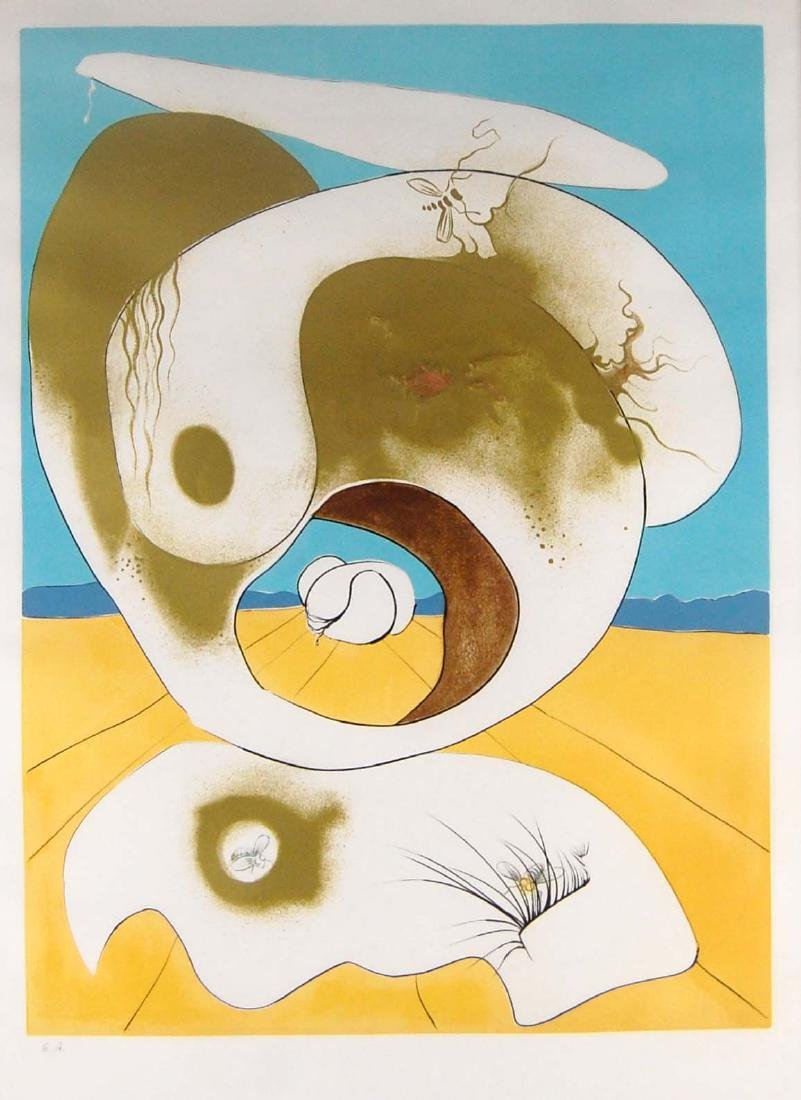 Signed Salvador Dali Embellished Art Lithograph