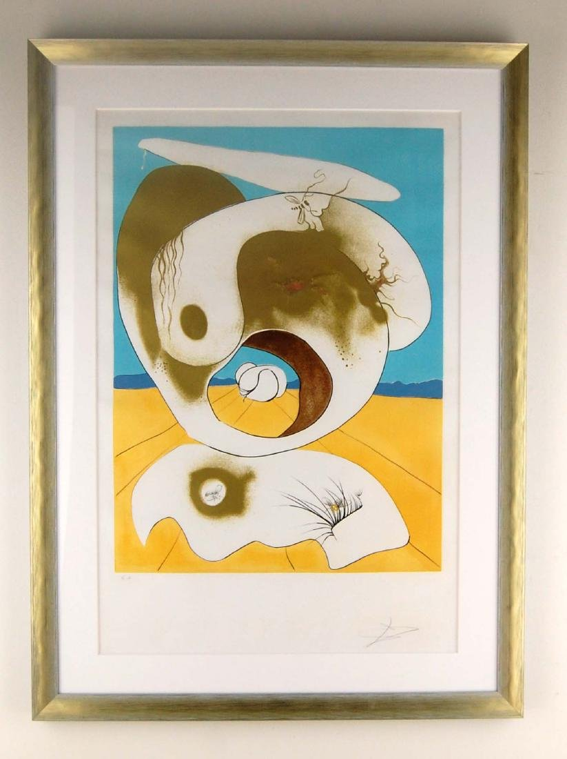 Signed Salvador Dali Embellished Art Lithograph - 2
