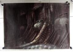 H. R. Giger Signed Alien Movie Screen Printing 240/350