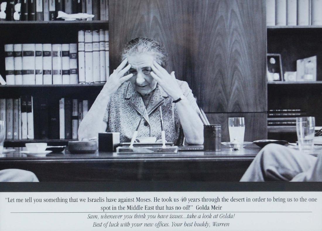 Israeli Leader Golda Meir Quote Print