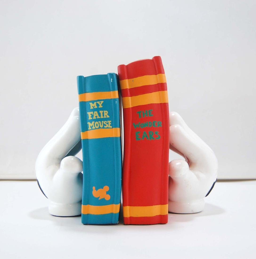 Mickey Mouse Gloves Disney Heavy Book Ends