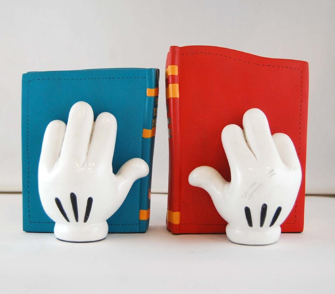 Mickey Mouse Gloves Disney Heavy Book Ends - 4