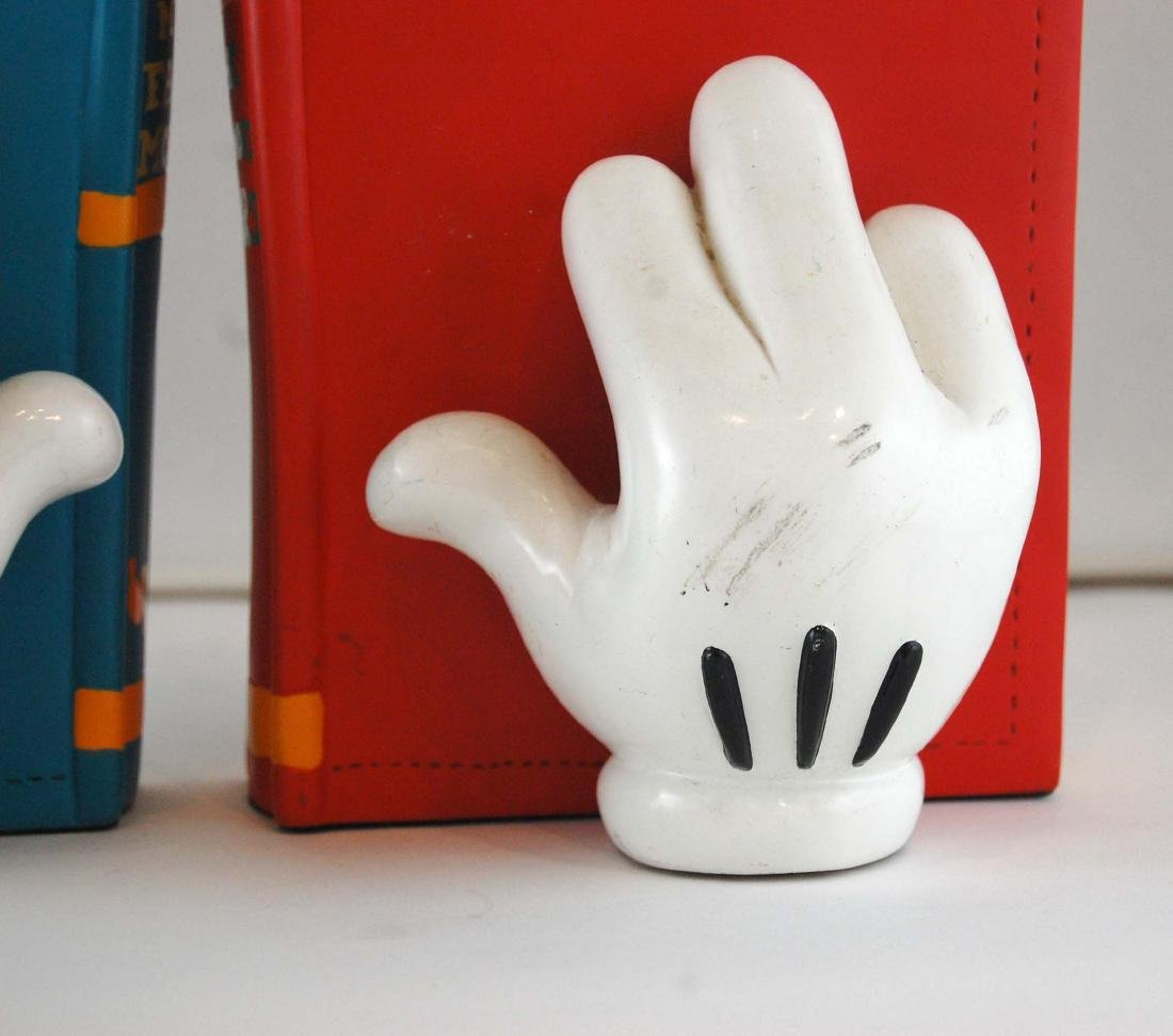 Mickey Mouse Gloves Disney Heavy Book Ends - 5