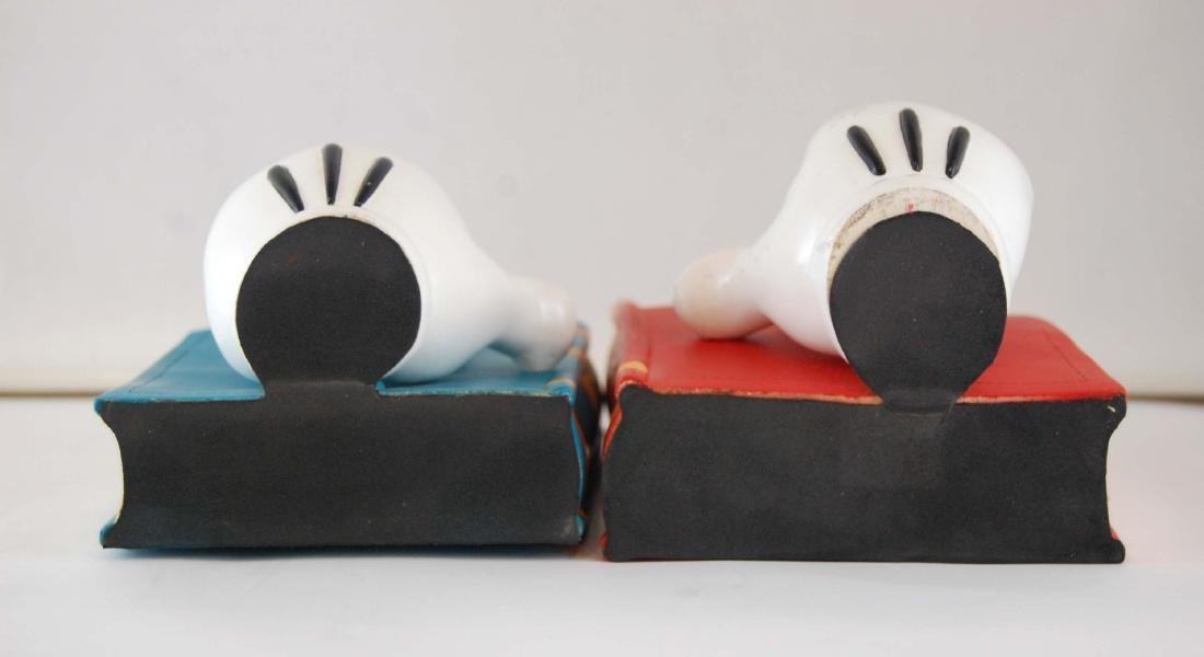 Mickey Mouse Gloves Disney Heavy Book Ends - 6