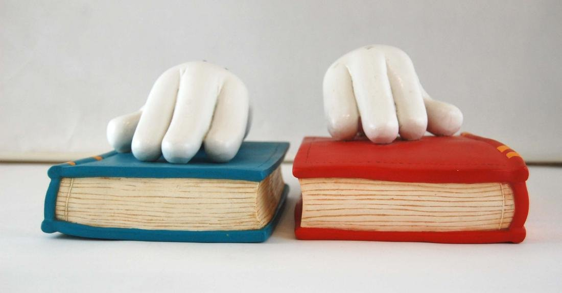 Mickey Mouse Gloves Disney Heavy Book Ends - 7