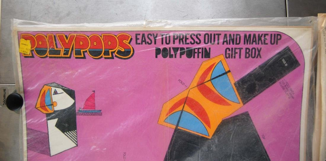 Vintage PolyPops Pop Out Puffin & Elephant Gift Boxes - 4