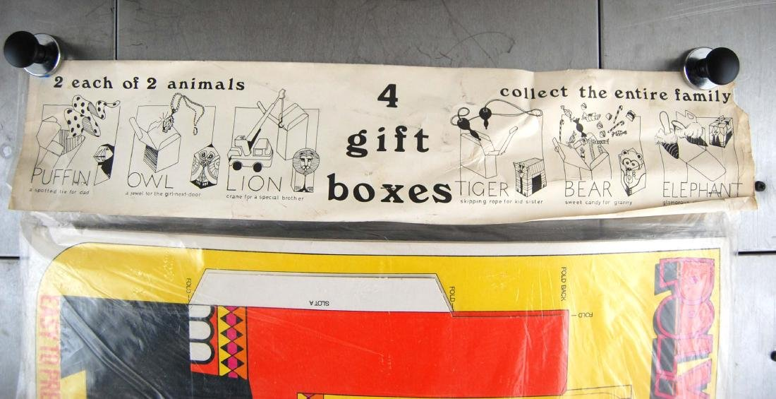 Vintage PolyPops Pop Out Puffin & Elephant Gift Boxes - 7