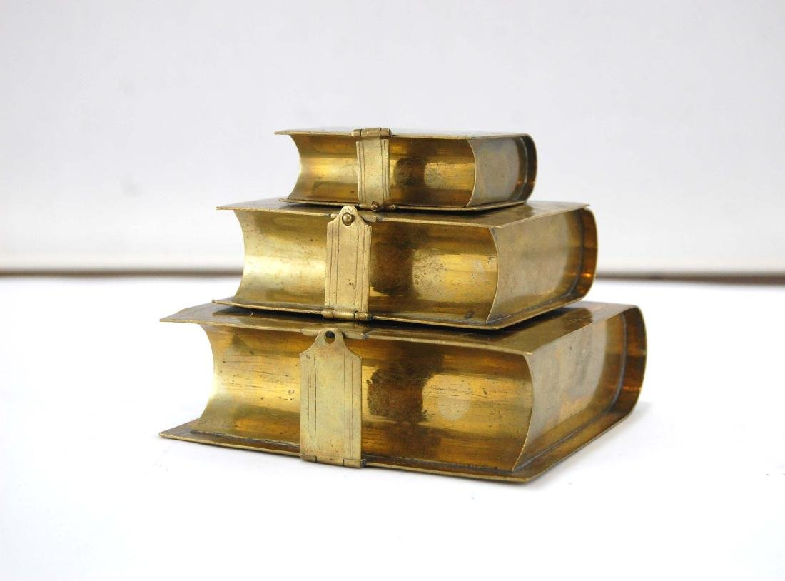 3 Metal Brass Book Design Hidden Containers