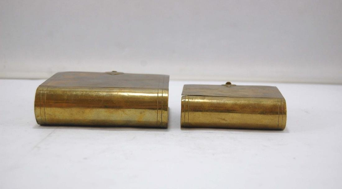3 Metal Brass Book Design Hidden Containers - 3