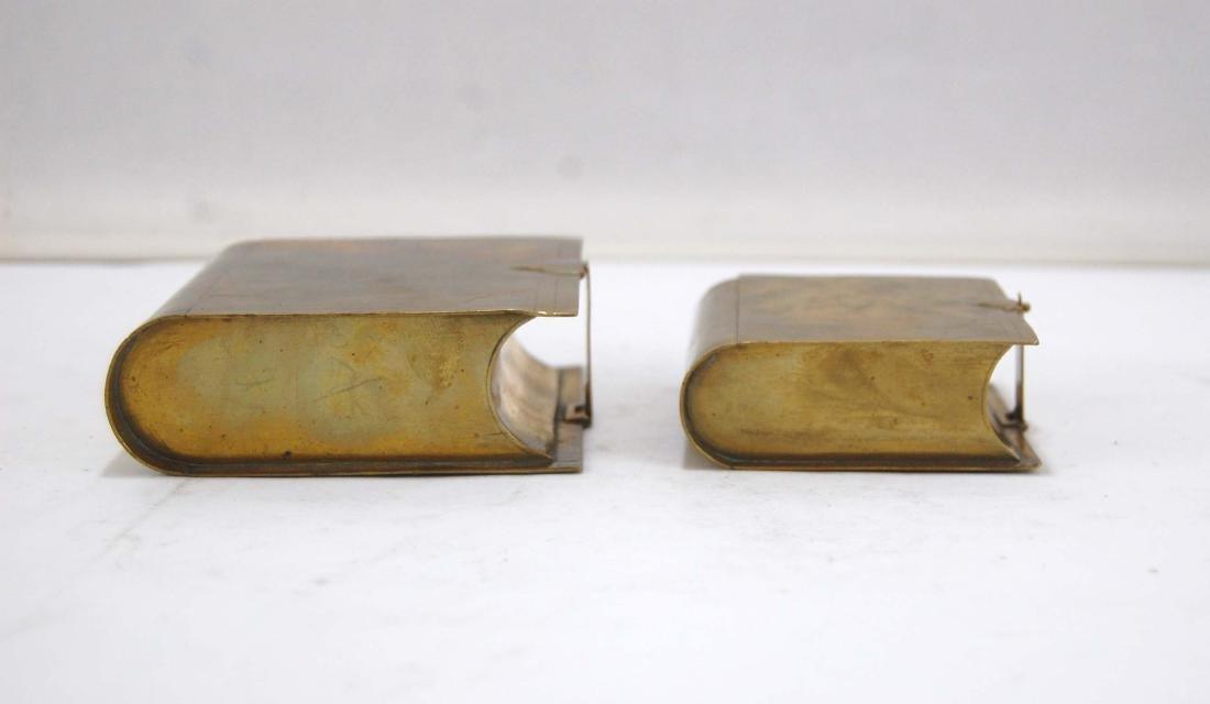 3 Metal Brass Book Design Hidden Containers - 4