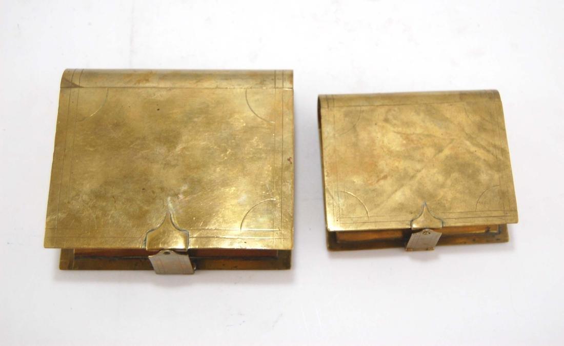 3 Metal Brass Book Design Hidden Containers - 5