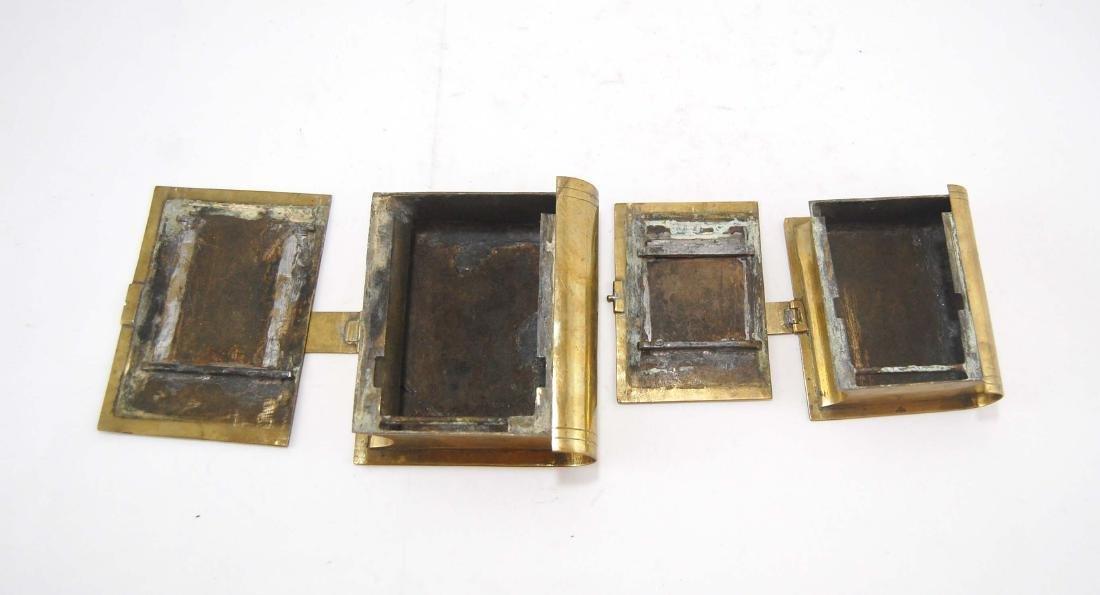 3 Metal Brass Book Design Hidden Containers - 6